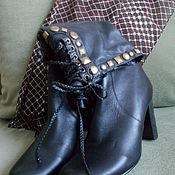Винтаж ручной работы. Ярмарка Мастеров - ручная работа Винтажные кожаные сапоги. Handmade.