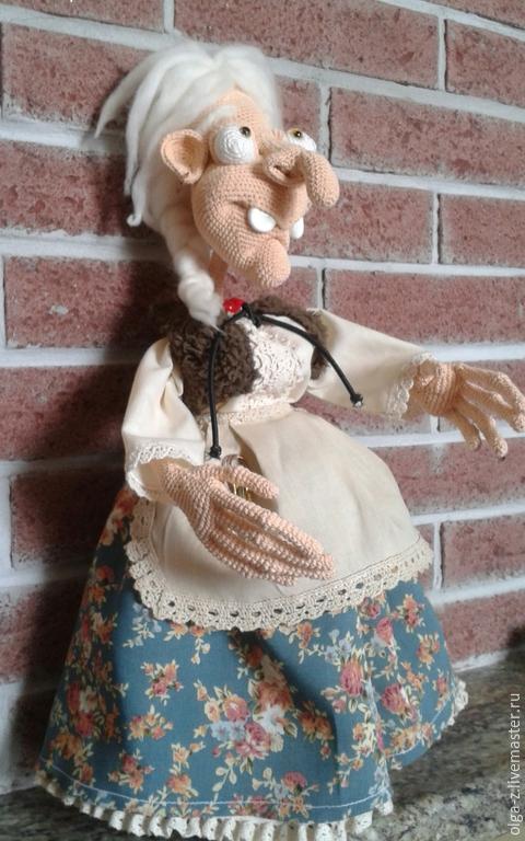 Сказочные персонажи ручной работы. Ярмарка Мастеров - ручная работа. Купить Баба Яга. Handmade. Разноцветный, игрушка в подарок