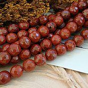 Материалы для творчества handmade. Livemaster - original item Jasper red bead faceted 8 mm (art. 2454). Handmade.