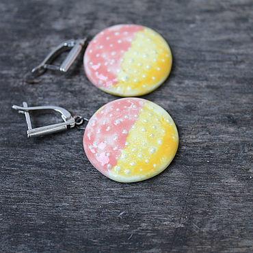 Decorations handmade. Livemaster - original item earrings: Sunset in Miami. Handmade.