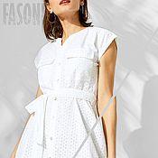 Одежда handmade. Livemaster - original item dresses: White dress sewing organic cotton Dress. Handmade.