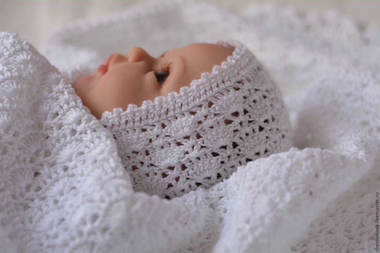 шапочка для новорожденного шапочка вязанная крючком купить в