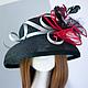 """Шляпы ручной работы. Ярмарка Мастеров - ручная работа. Купить """"Джулия Ламберт"""". Handmade. Красный, шляпа с полями, широкие поля"""
