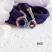 Lariats handmade. Livemaster - original item Lariat beaded Swarovski-pendants. Handmade.