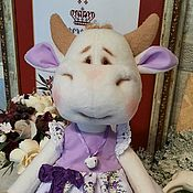 Куклы и игрушки handmade. Livemaster - original item Cow Moo, color of lilac. Handmade.