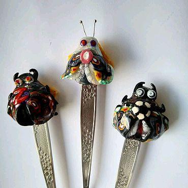 Посуда ручной работы. Ярмарка Мастеров - ручная работа Ложки с декором. Handmade.