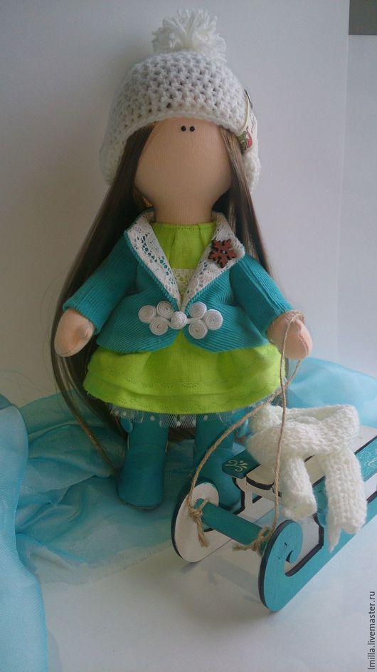 Куклы тыквоголовки ручной работы. Ярмарка Мастеров - ручная работа. Купить Текстильная кукла ручной работы. Handmade. Бирюзовый