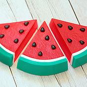 Косметика ручной работы handmade. Livemaster - original item Soap figured Watermelon slice. Handmade.