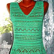 Одежда handmade. Livemaster - original item Beach tunic.Top. Turquoise soft. Fileecho.. Handmade.