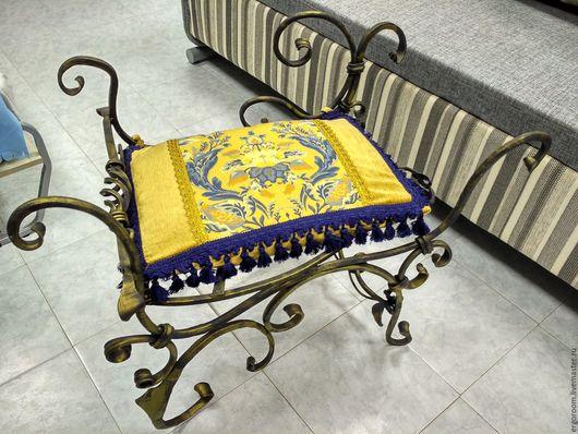 Мебель ручной работы. Ярмарка Мастеров - ручная работа. Купить Пуф кованый. Handmade. Коричневый, кованные изделия, кованая мебель