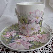 Посуда handmade. Livemaster - original item Delicate rose (porcelain). Handmade.