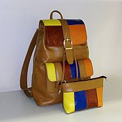 Сумки и аксессуары handmade. Livemaster - original item Backpack leather 76. Handmade.