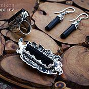 Украшения handmade. Livemaster - original item Set with black tourmaline (schorl). Handmade.