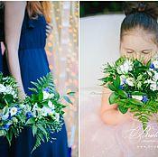 Свадебный салон ручной работы. Ярмарка Мастеров - ручная работа Свадьба в синем цвете с золотом. Handmade.