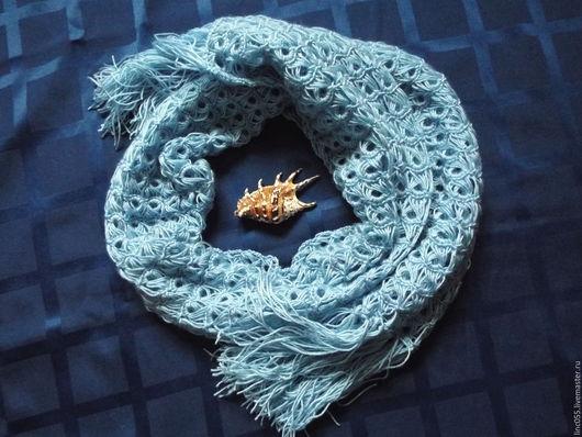 """Шарфы и шарфики ручной работы. Ярмарка Мастеров - ручная работа. Купить Шарф женский """"Голубая лагуна """". Handmade. Голубой"""