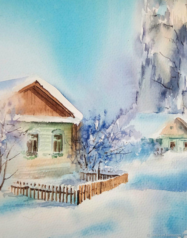 Зимнее утро картинки и рисунки мой
