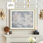 Картины и панно handmade. Livemaster - original item The marshmallow clouds. Handmade.