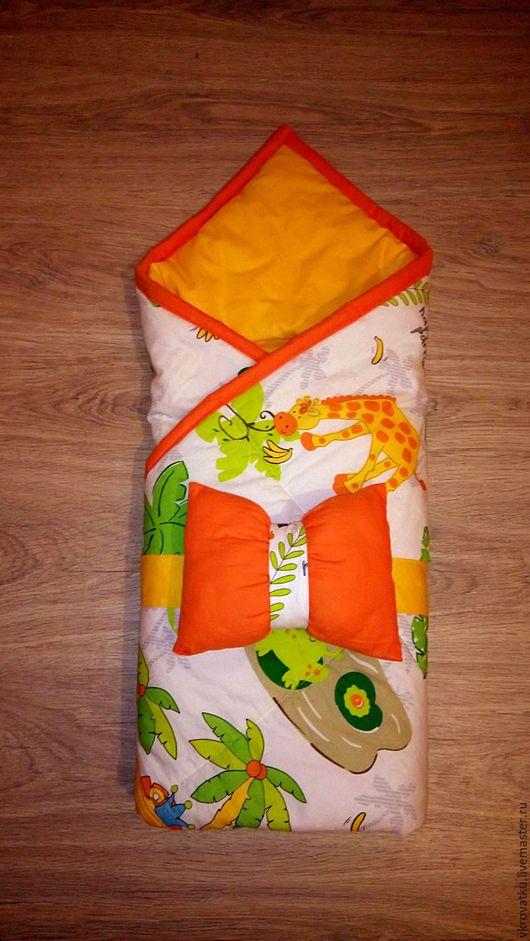 Для новорожденных, ручной работы. Ярмарка Мастеров - ручная работа. Купить Конверт - одеяло на выписку. Handmade. Комбинированный, сатин, одеяло