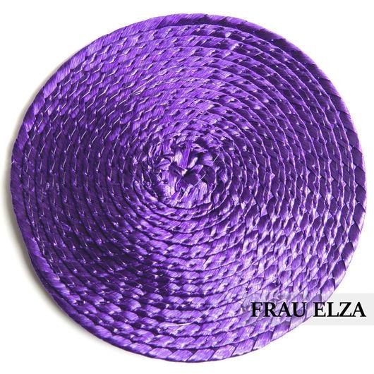 Другие виды рукоделия ручной работы. Ярмарка Мастеров - ручная работа. Купить Плетеная основа для вуалетки 14 см Лаванда. Handmade.