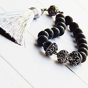 Фен-шуй и эзотерика handmade. Livemaster - original item Good Luck prayer beads made of black agate. Handmade.