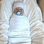 """Комплекты одежды ручной работы. Ярмарка Мастеров - ручная работа Комплект для новорожденного """"Нежность"""" 4пр. Handmade."""