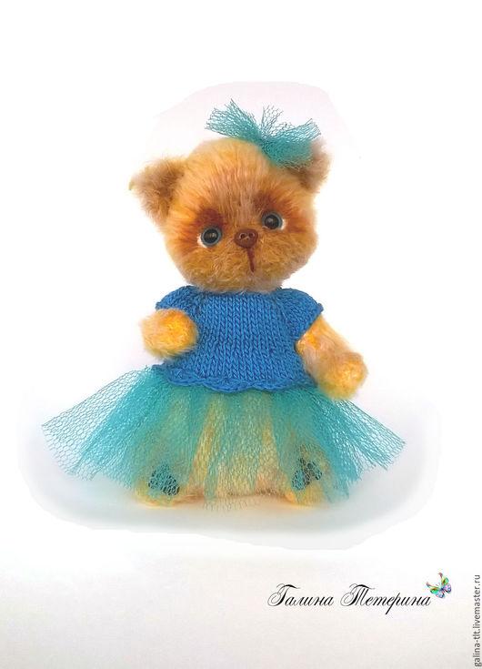 Мишки Тедди ручной работы. Ярмарка Мастеров - ручная работа. Купить Нюта. Кошечка  в стиле Тедди. Handmade. Желтый