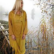 Одежда ручной работы. Ярмарка Мастеров - ручная работа комплект 2 в одном бохо Осенние листья в тумане. Handmade.
