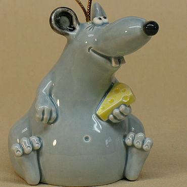 Сувениры и подарки ручной работы. Ярмарка Мастеров - ручная работа Крыса колокольчик. Крыса символ 2020 года.. Handmade.